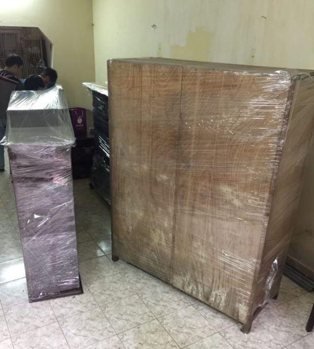 đóng gói tủ gỗ